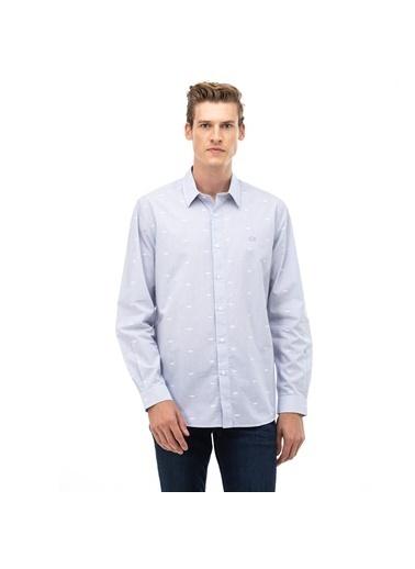 Lacoste Erkek Regular Fit Gömlek CH6943.525 Mavi